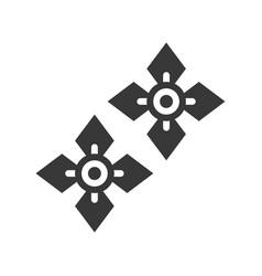 Gemstone earrings jewelry icon glyph style vector