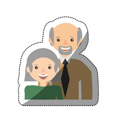 grandparents smiling together member vector image