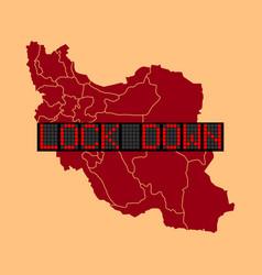 Graphic iran lockdown vector