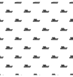 Great powerboat pattern simple style vector image