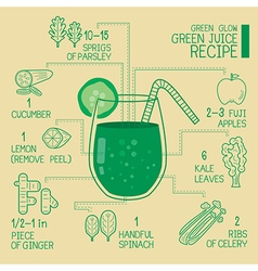 Green glow green juice recipes great detoxify vector