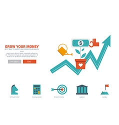 Growing money concept vector image