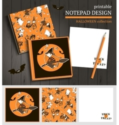 Halloween printable set vector