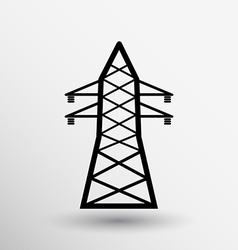 high-voltage line icon button logo symbol concept vector image