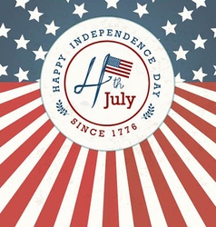 Independence Day Greeting Card Design vector image