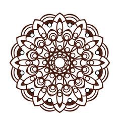 Laser cutting mandala oriental brown floral vector