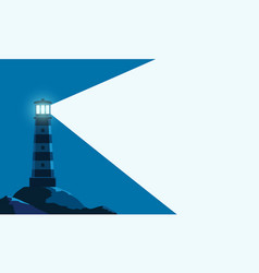 Lighthouse tower with a ray light vector