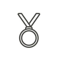 medal icon line winner medal symbol vector image