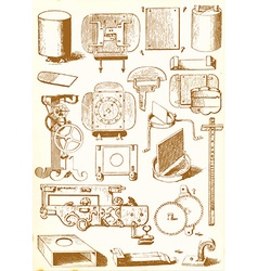 Medieval technology and Industry - pack vector image