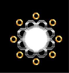 Metallic design element vector