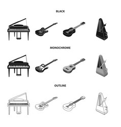 musical instrument blackmonochromeoutline icons vector image