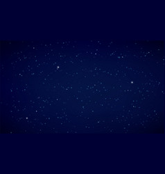 night starry sky dark blue background space or vector image