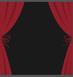 open luxury red silk stage theatre curtain velvet vector image