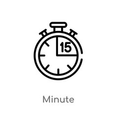 Outline minute icon isolated black simple line vector