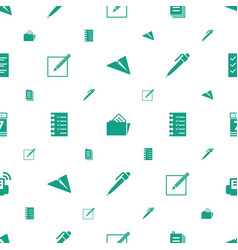 Paper icons pattern seamless white background vector
