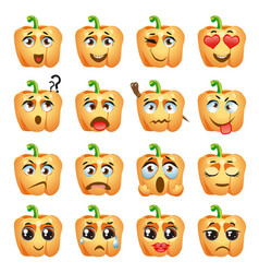 pepper emoji emoticon expression vector image