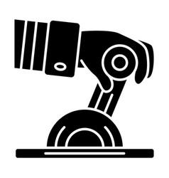 Pilot engine lever glyph icon vector
