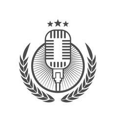 podcast logo icon design element vector image