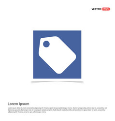 Price tag icon - blue photo frame vector