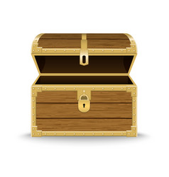realistic wooden chest vector image