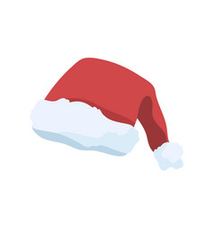 santa claus cap flat festive vector image