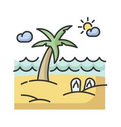 seaside resort rgb color icon vector image