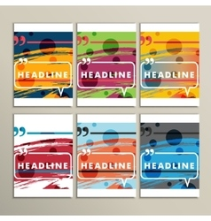 Set abstract circles on a colored background vector image