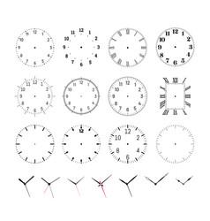 Set round clock faces vector