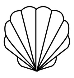 shell icon outline style vector image