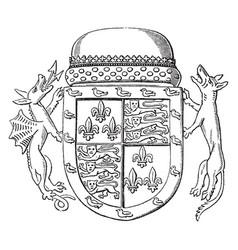 shield jaspar tudor are second son queen vector image