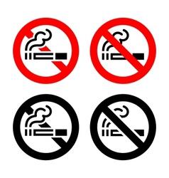 Signs set - no smoking vector