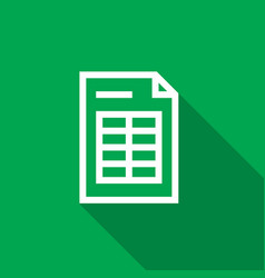 spreadsheet document paper outline icon thin line vector image