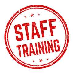 Staff training sign or stamp vector