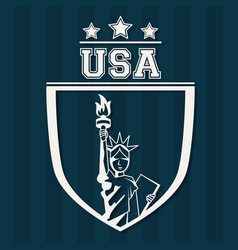 statue of liberty united states usa patriot vector image