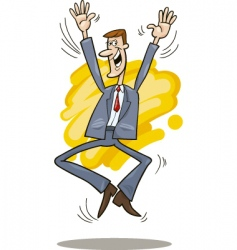 stockbroker jumping vector image