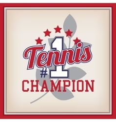Tennis Badge Template vector image