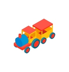 Train in amusement park isometric 3d icon vector image