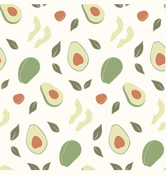 Trendy hand drawn seamless pattern with fresh vector