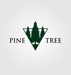 Triangle pine tree or fir logo evergreen vector