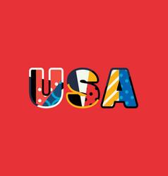 usa concept word art vector image
