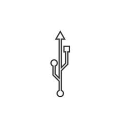 usb data transfer logo vector image
