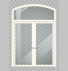 white balcony door vector image