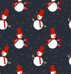 Xmas snowmen pattern vector