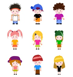 cartoon kid vector image vector image
