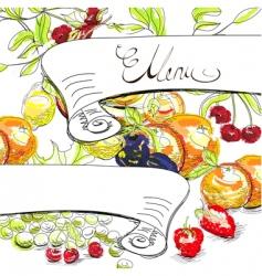 decorative menu vector image