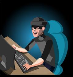 hacker internet computer security technology vector image