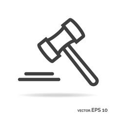 justice outline icon black color vector image