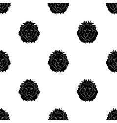 lion icon in black style isolated on white vector image vector image