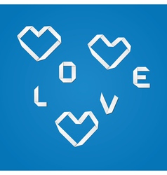Origami love vector image vector image