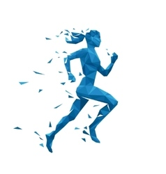 Active running woman Energy vector image